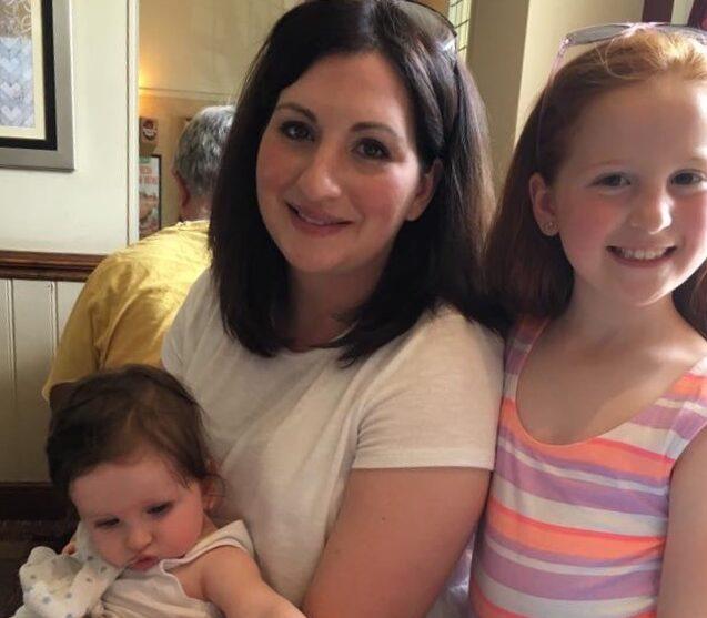 Rachel with her children