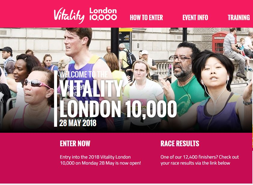 Want to run the London Vitality 10k for the Nystagmus Network?