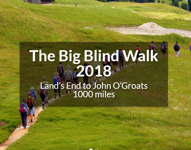 The Nystagmus Network supports Julian's Big Blind Walk