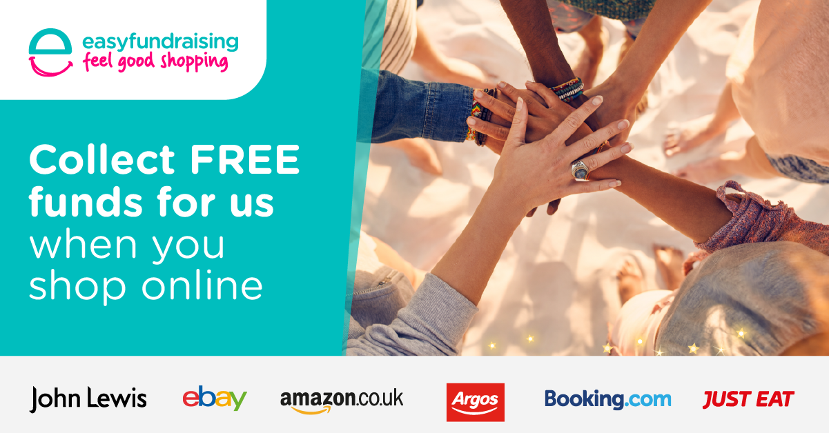 Join Easyfundraising.com and raise donations for the Nystagmus Network every time you shop online