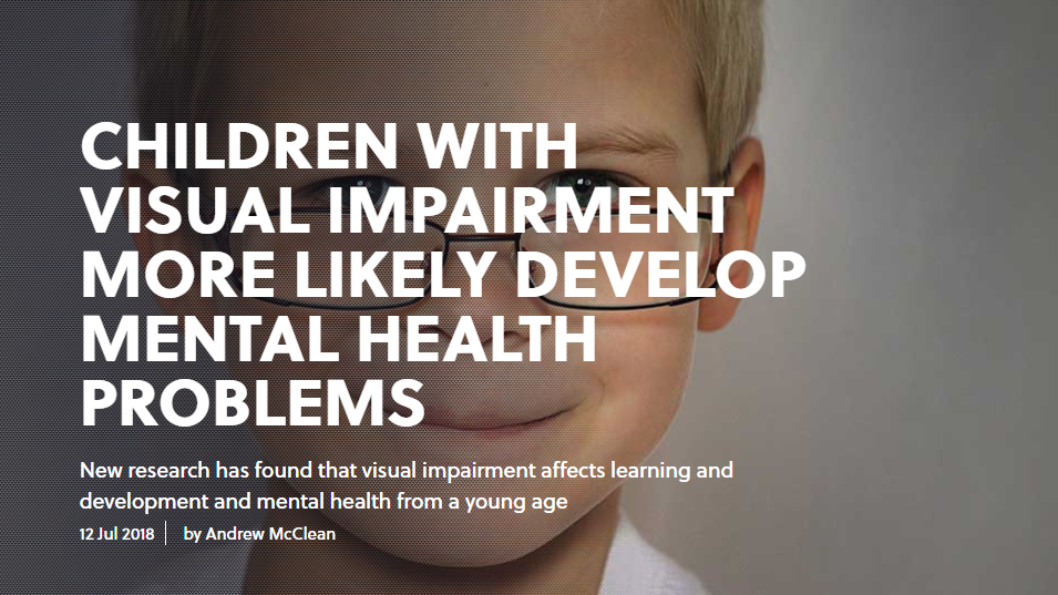 Visual impairment and mental health
