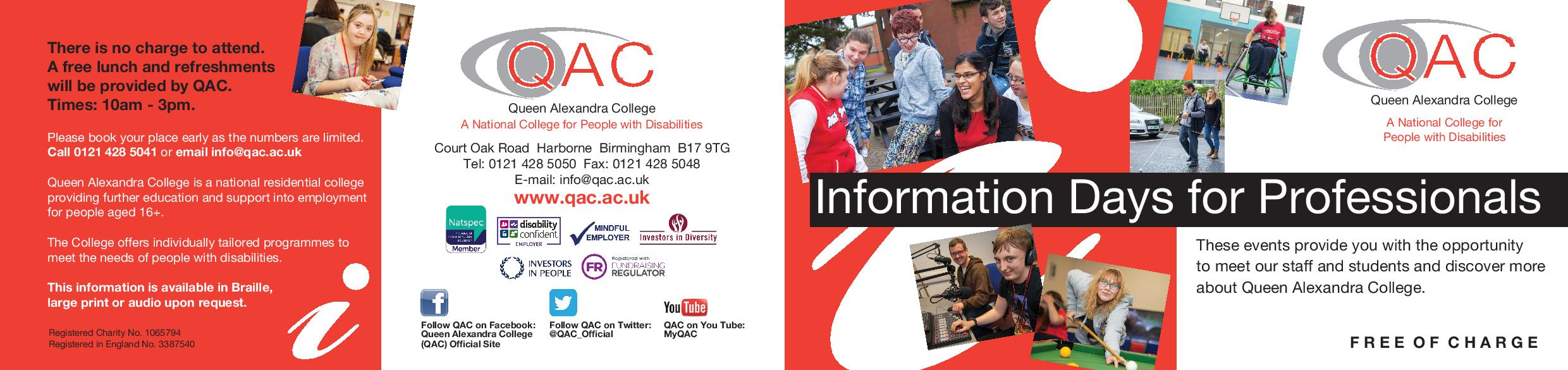 QAC information days for professionals