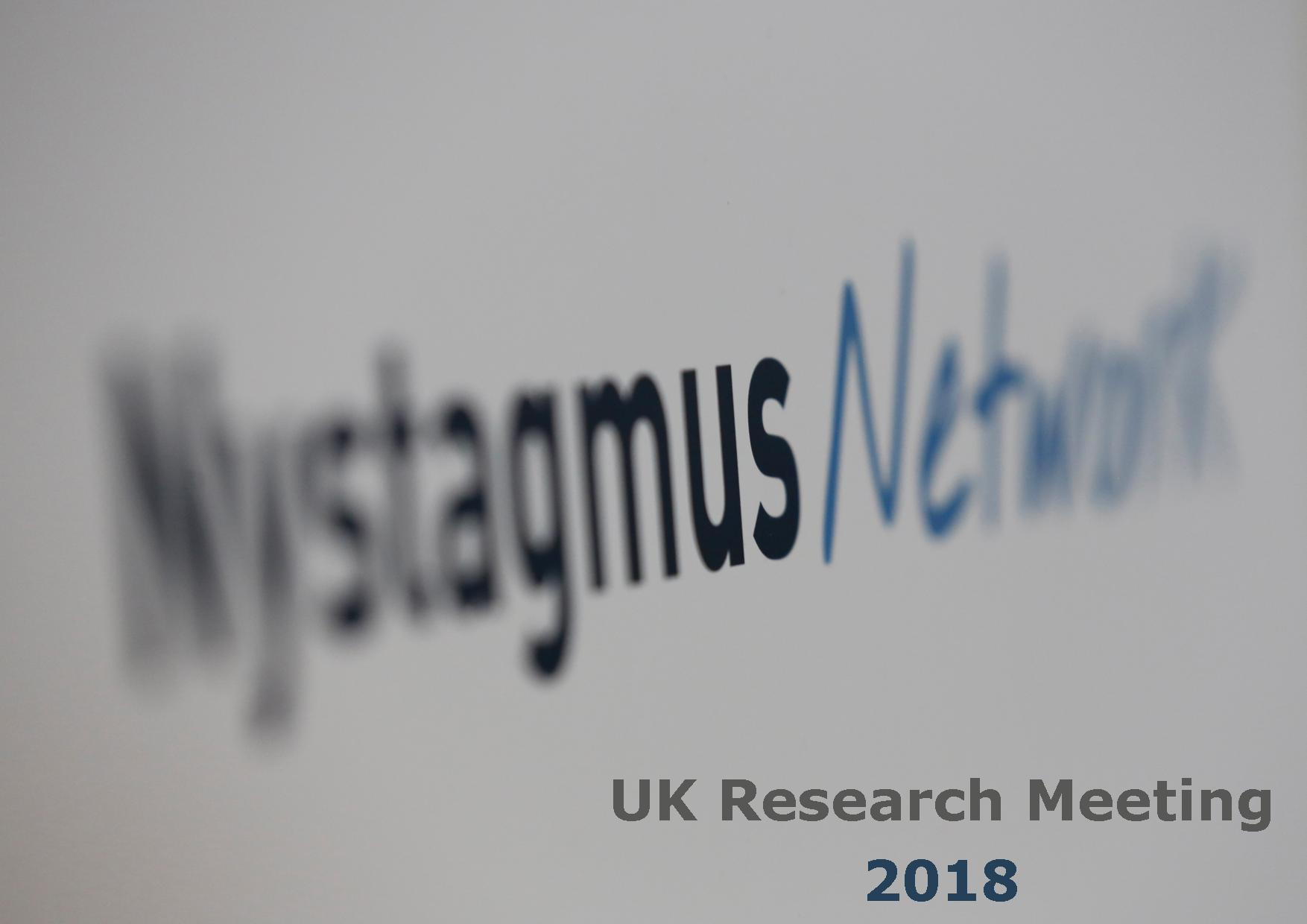 UK Nystagmus Research Meeting 2018