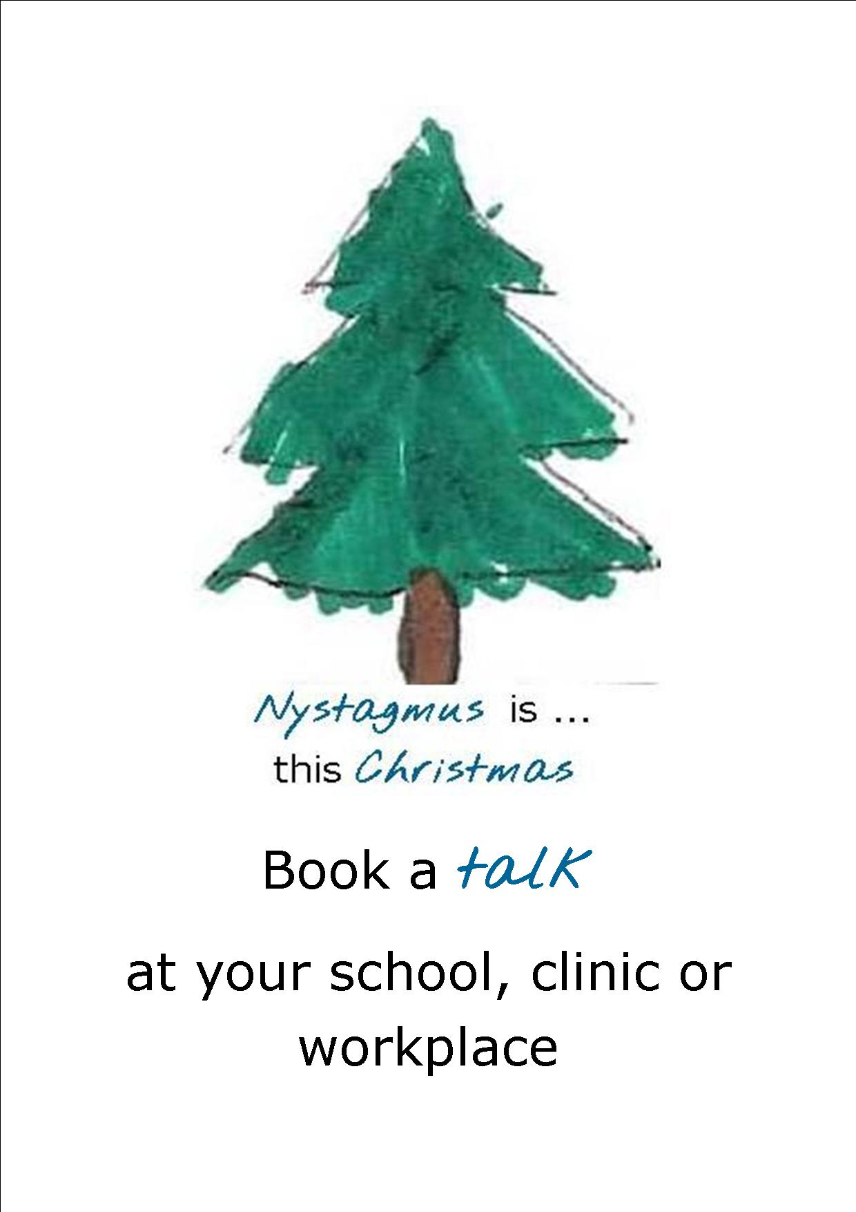 Book a talk about nystagmus