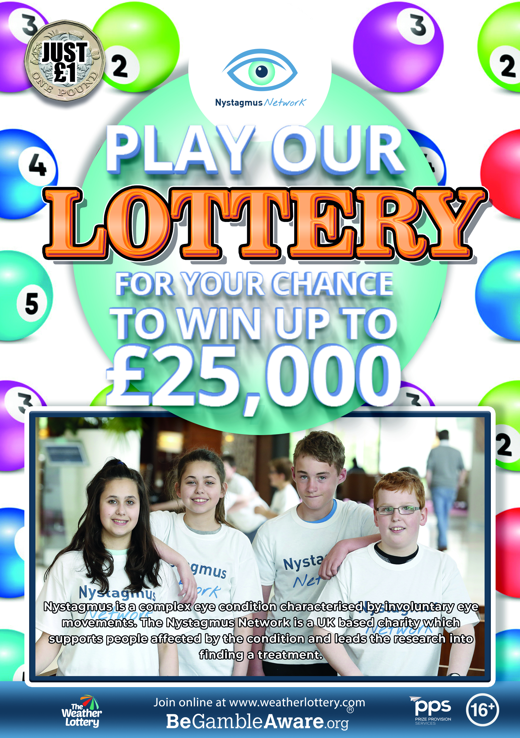 Join our lottery to win £25,000