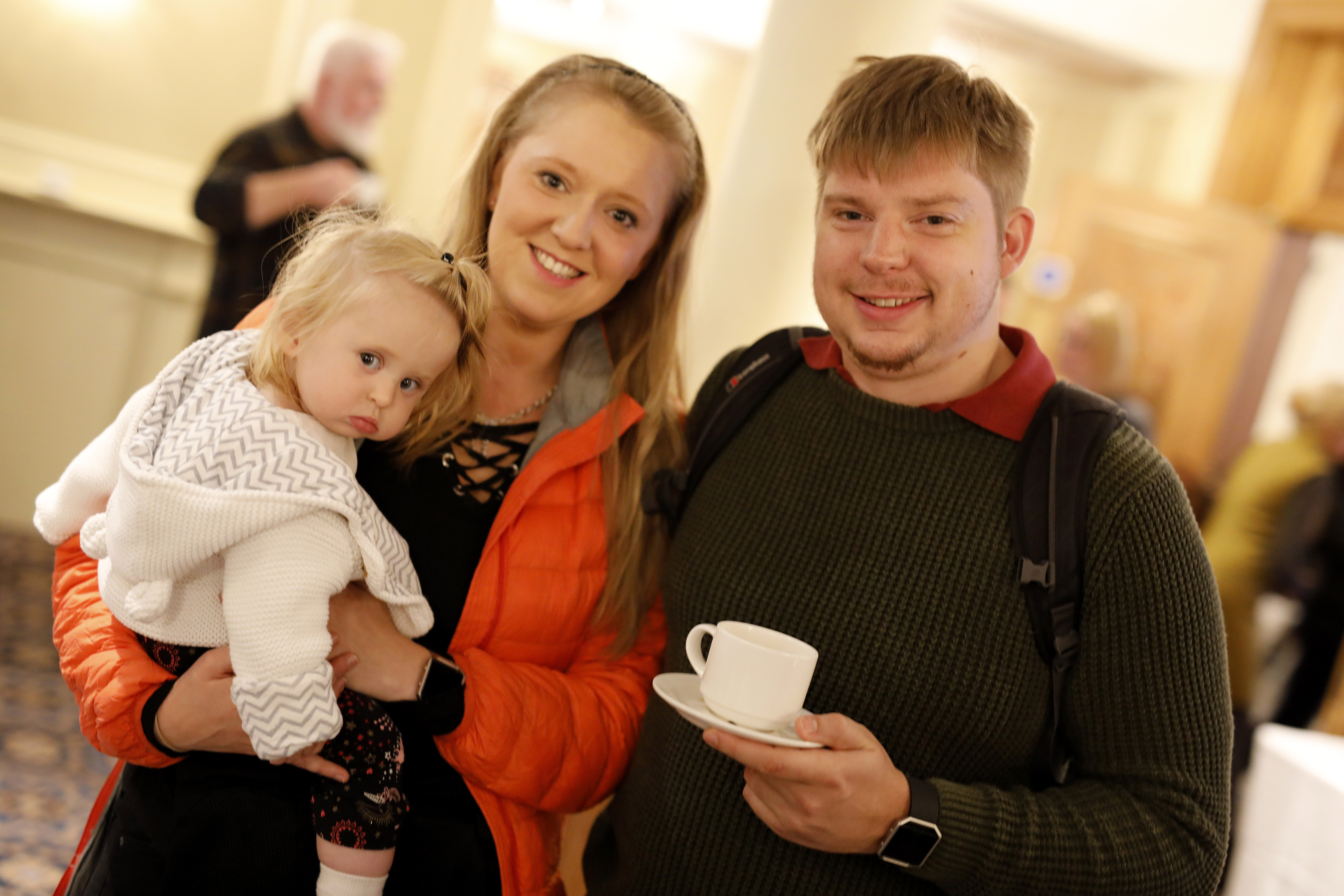 A family at Open Day.