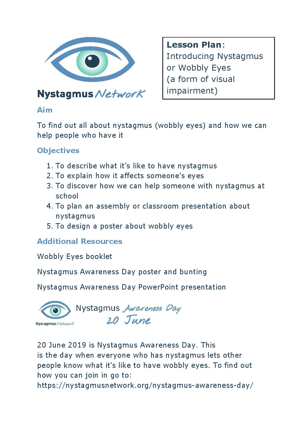 A lesson in nystagmus