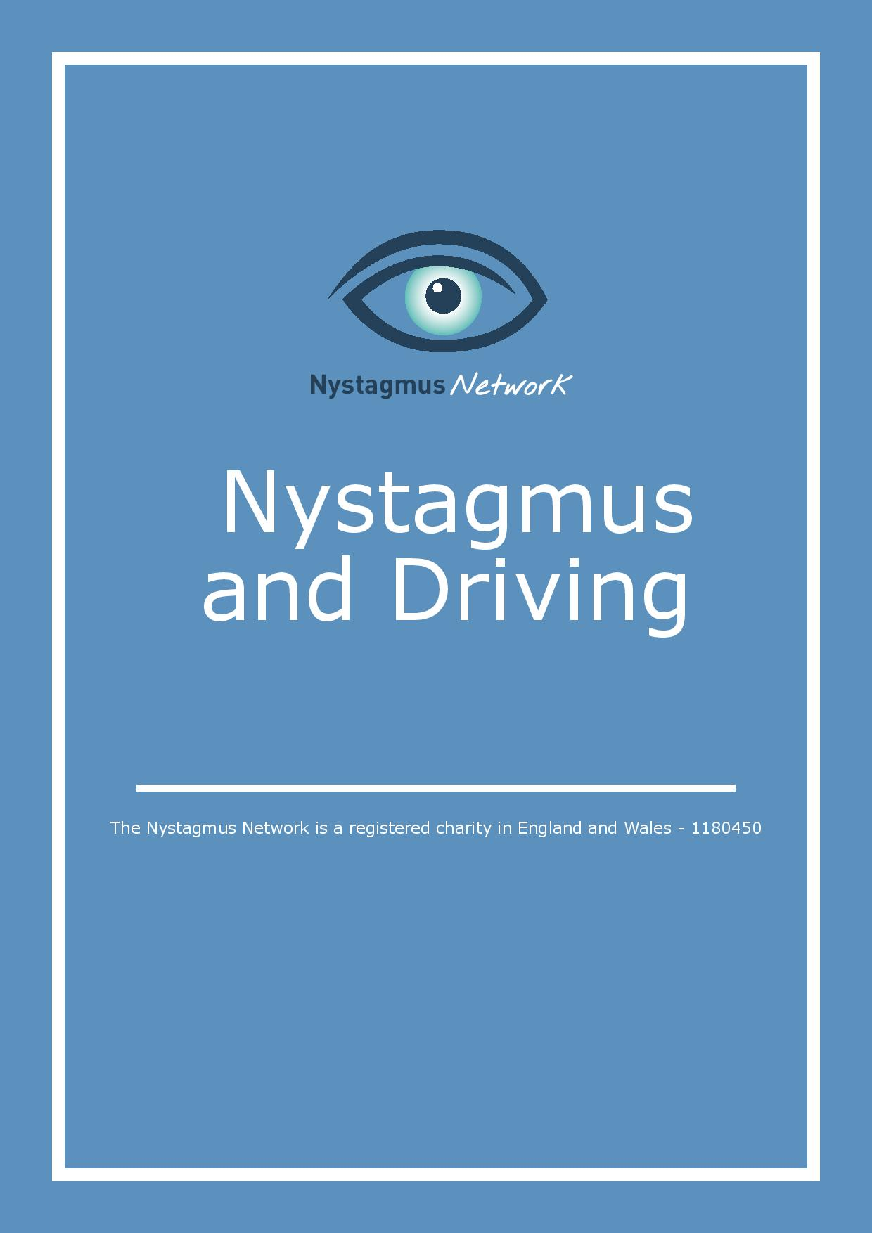 Nystagmus and Driving front cover.