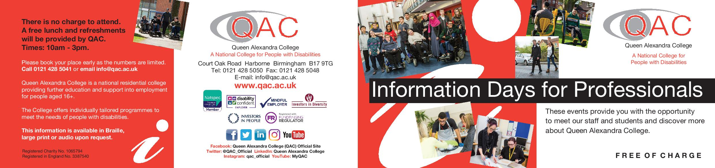 Information Day for professionals at QAC
