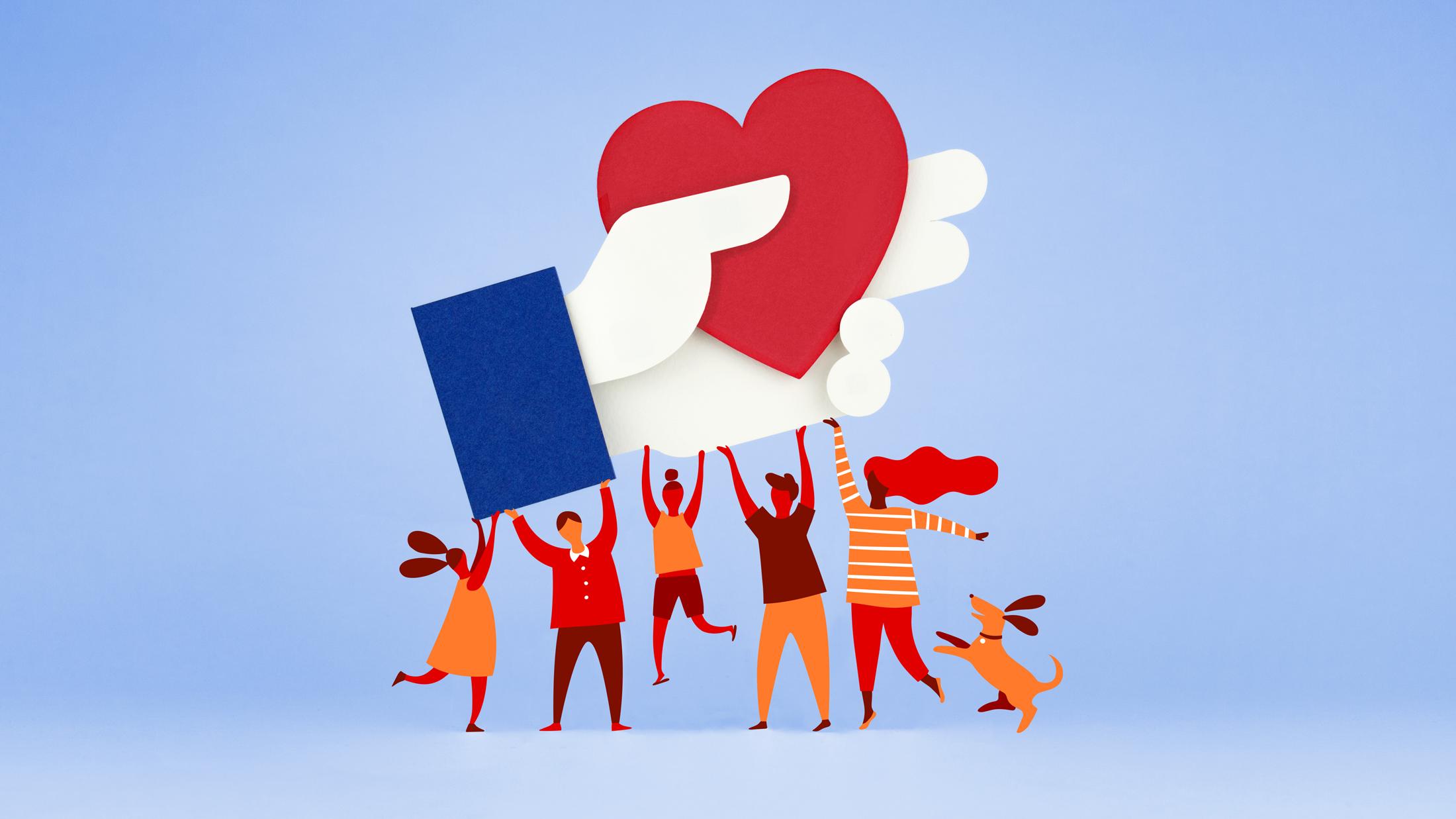 Facebook Fundraiser logo.
