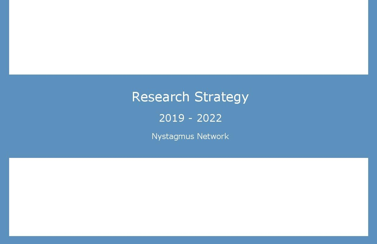 Front cover of the Nystagmus Network research strategy.