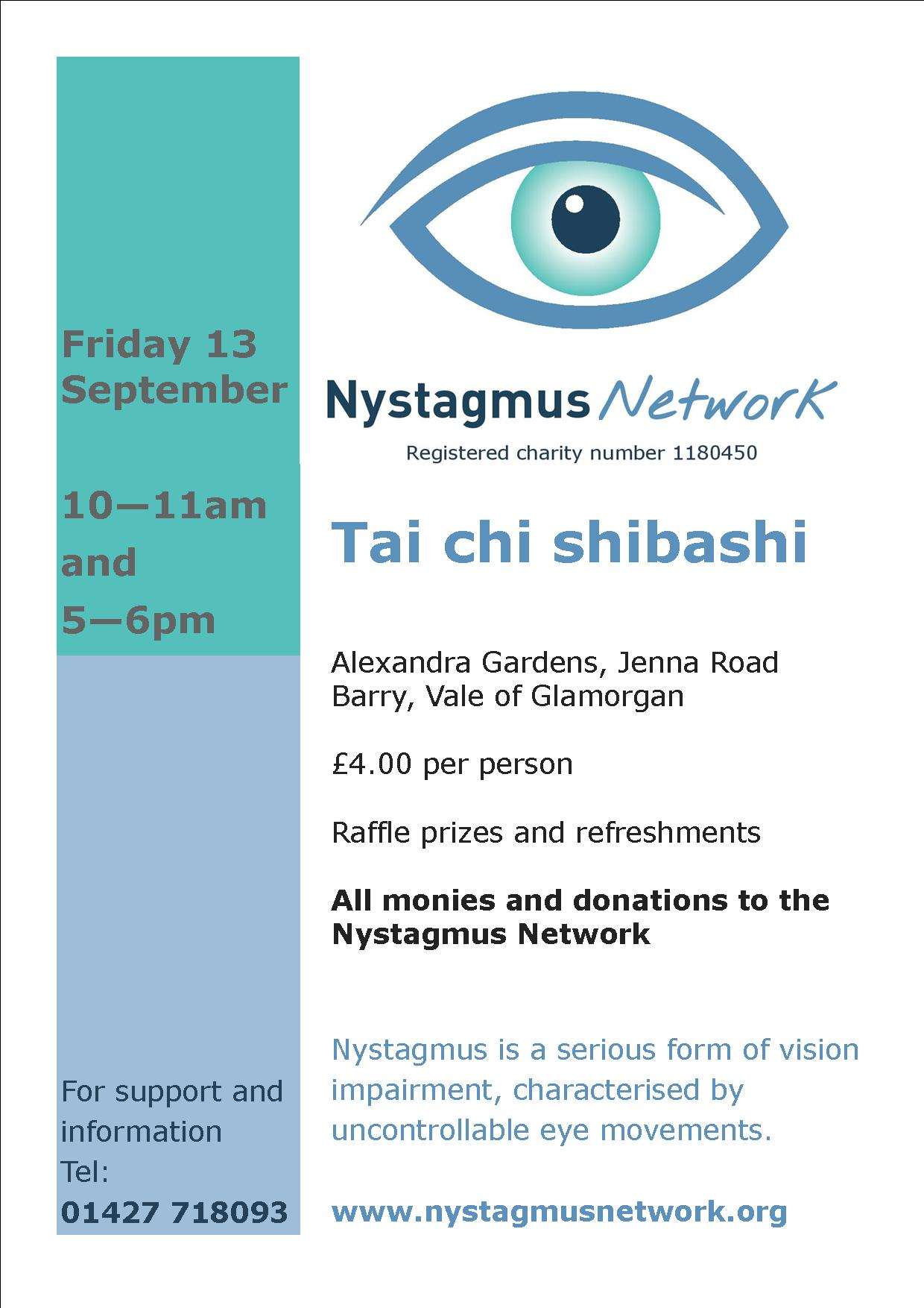 Special Tai Chi sessions for the Nystagmus Network