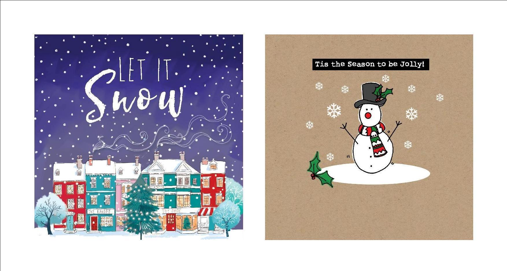Christmas cards. 2 designs.