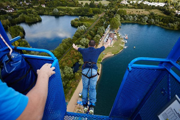 Bungee jump for nystagmus