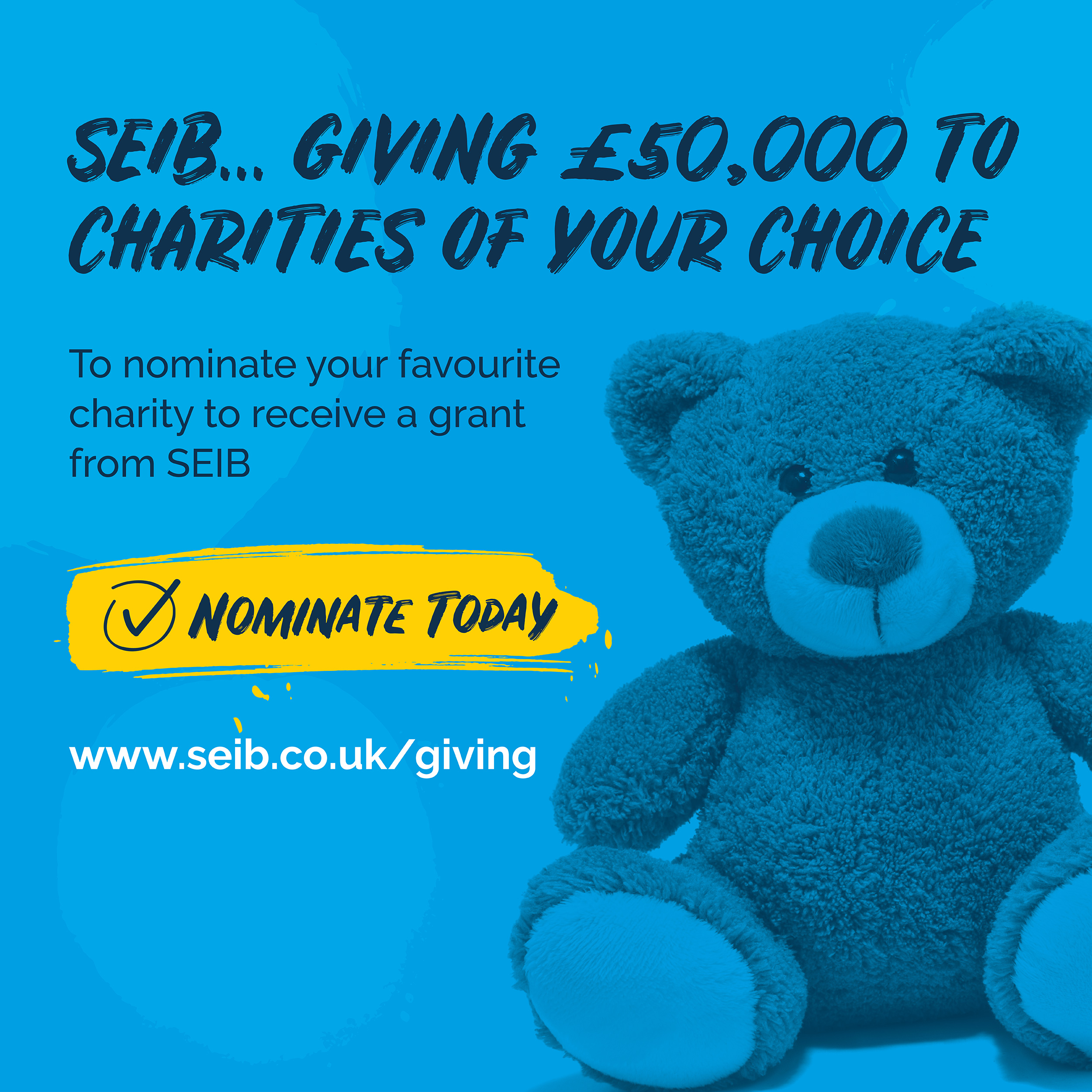Your nomination could help us win £25,000!