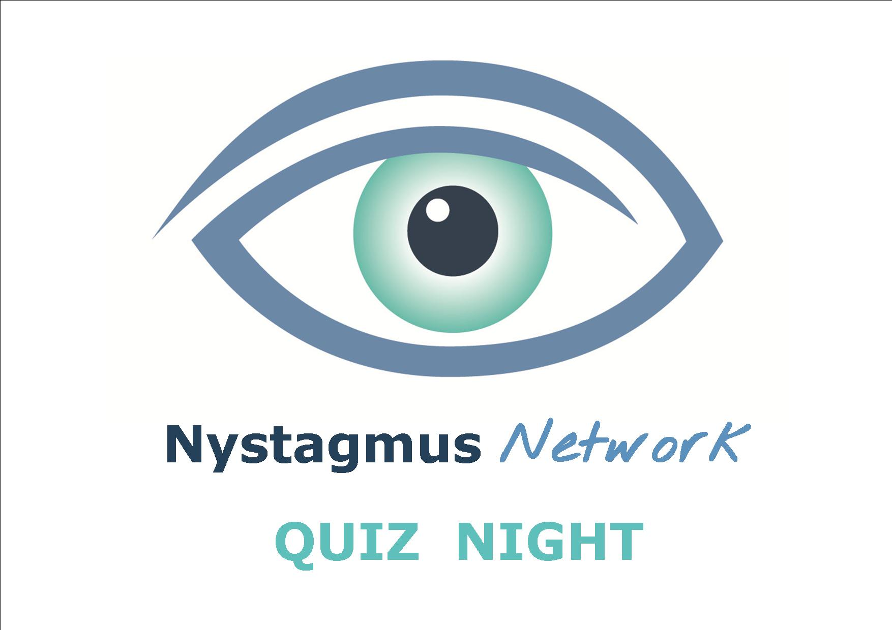 Nystagmus Network quiz night postcard.
