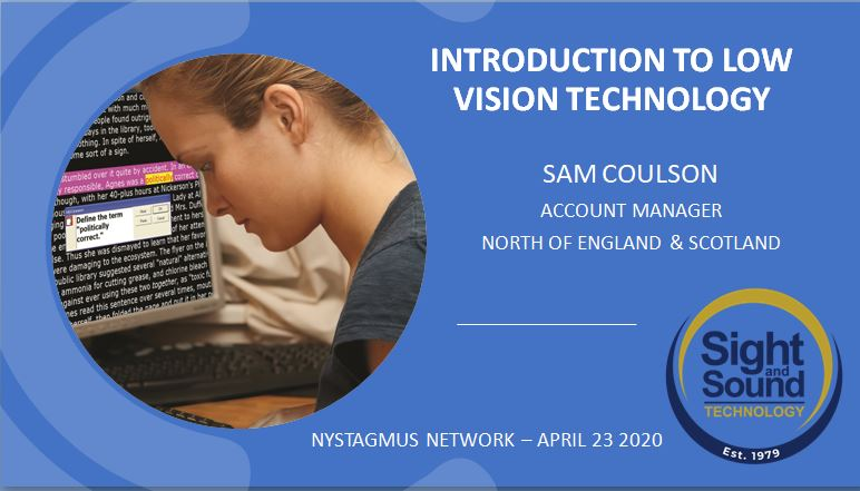 Free webinars on low vision technology