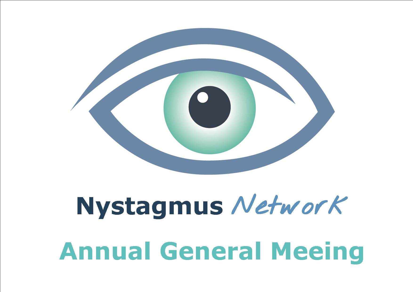 The logo of the Nystagmus Network and the words Annual General Meeting.