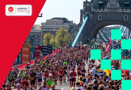 VMLM image of runners competing in the London Marathon physical race.