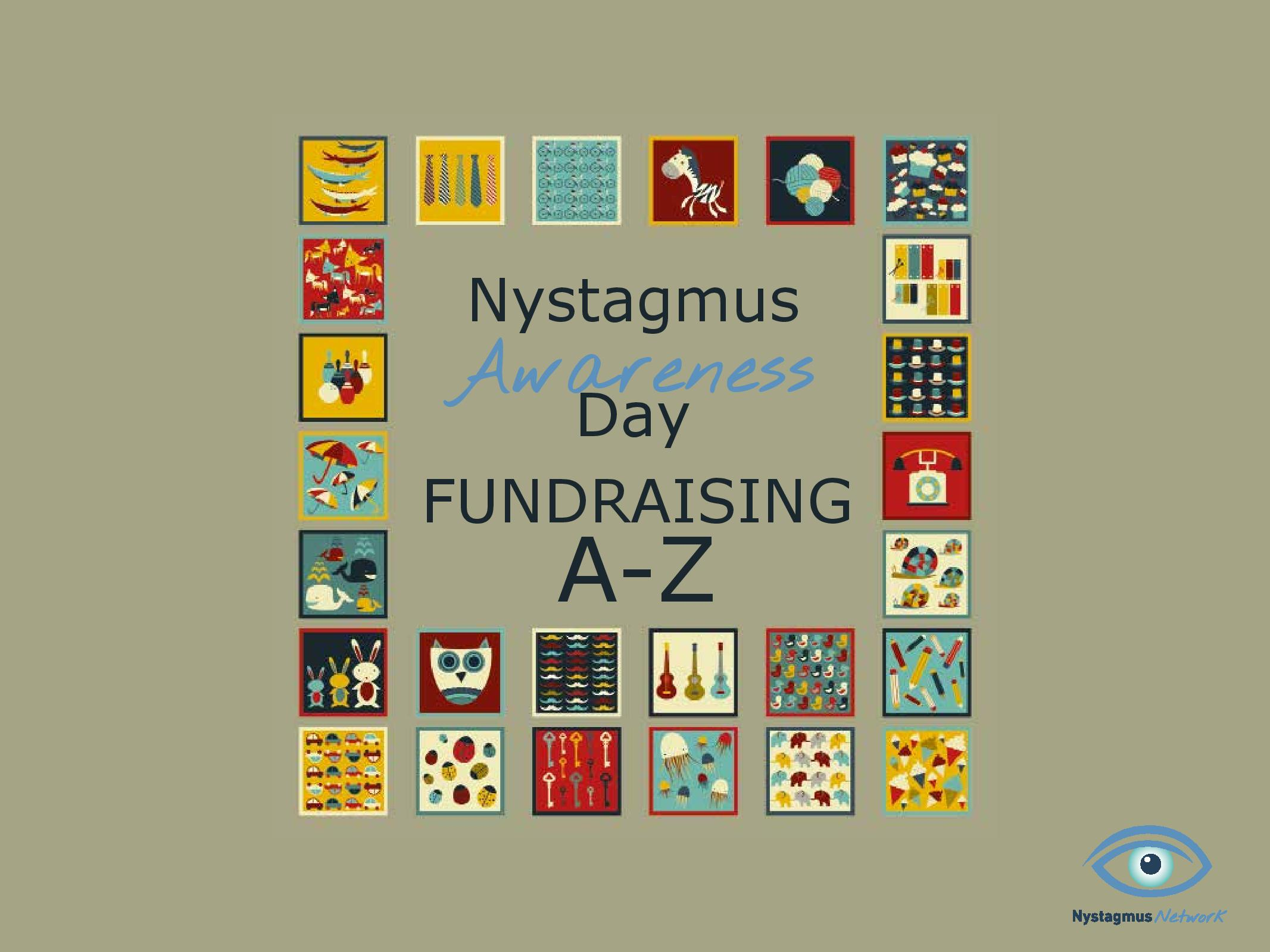 Front cover of the Nystagmus Awareness Day fundraising A-Z booklet