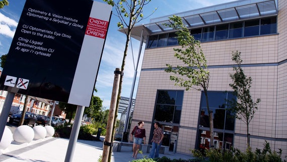 The School of Optometry at Cardiff University.