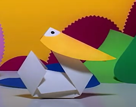 An origami duck